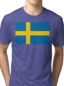 Flag of Sweden Tri-blend T-Shirt