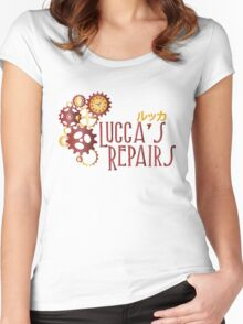 Lucca's Repairs Women's Fitted Scoop T-Shirt