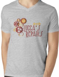 Lucca's Repairs Mens V-Neck T-Shirt