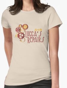 Lucca's Repairs Womens Fitted T-Shirt