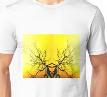 Yellow Tree Forest Antlers Unisex T-Shirt