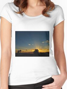 Sunray Night Women's Fitted Scoop T-Shirt