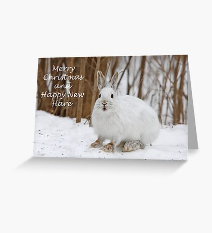 Snowshoe hare Christmas Greeting Card