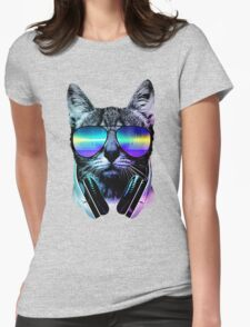 Music Lover Cat Womens Fitted T-Shirt