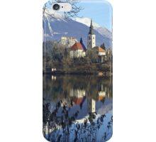 Church on island at Lake Bled Slovenia iPhone Case/Skin