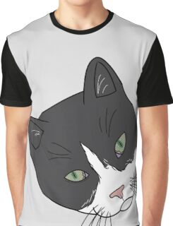 Green Eyed Tuxedo Graphic T-Shirt