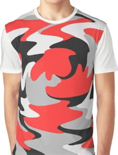 Abstract Color Warp Graphic T-Shirt