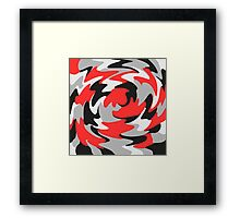 Abstract Color Warp Framed Print