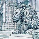 The Lion of S. Lorenzo, Genoa by Luca Massone  disegni