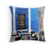 Blue Walls in Santa Catalina ! Throw Pillow