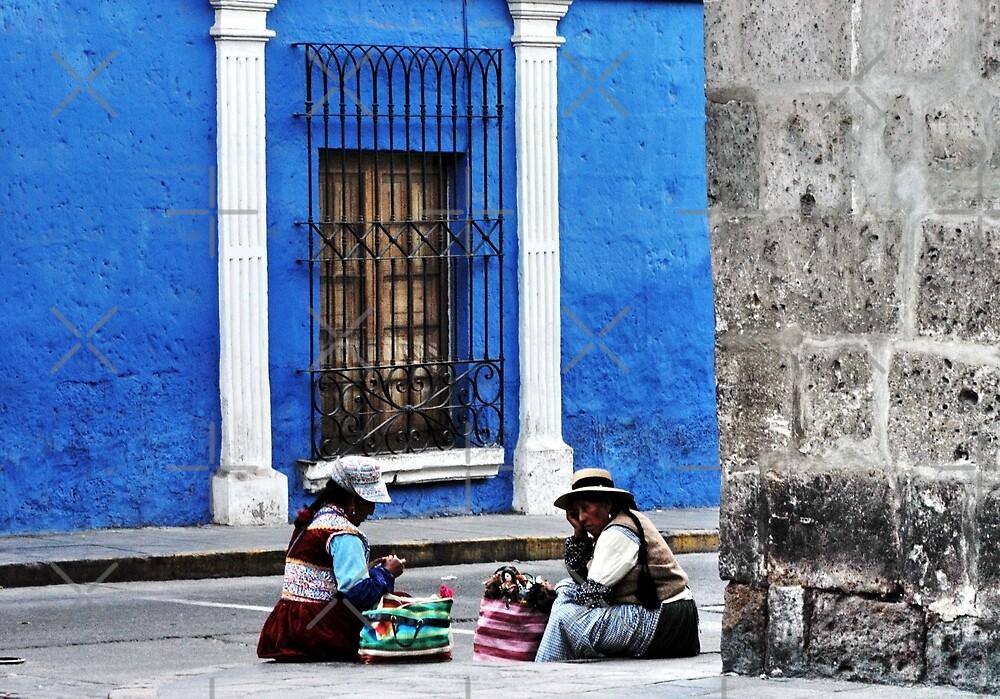 Blue Walls in Santa Catalina ! by Alessandro Pinto