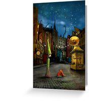 'Silent Street' Greeting Card