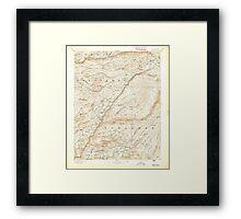USGS TOPO Map California CA Big Trees 299215 1894 125000 geo Framed Print