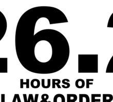 Law & Order Marathon Gear Sticker