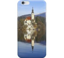 Church on island at Lake Bled Slovenia iPhone Case/Skin
