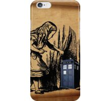 Little Girl and Police Public Call Box  iPhone Case/Skin