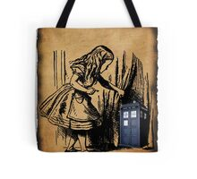 Little Girl and Police Public Call Box  Tote Bag