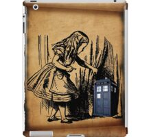 Little Girl and Police Public Call Box  iPad Case/Skin