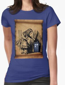 Little Girl and Police Public Call Box  T-Shirt