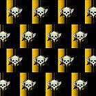 Wing Skull - YELLOW (Pattern) by Adamzworld