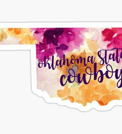 Floral Oklahoma State Cowboys Sticker