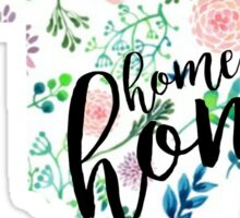 Home Sweet Homa Floral Oklahoma Sticker