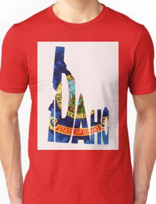 Idaho Typographic Map Flag Unisex T-Shirt