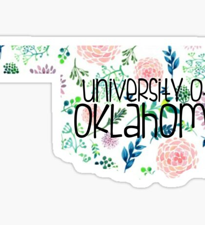 Light Floral University of Oklahoma Sticker
