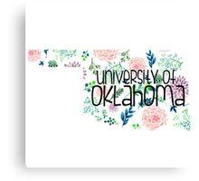 Light Floral University of Oklahoma Canvas Print