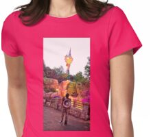Hiccup's Tower Womens Fitted T-Shirt