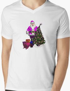 Santa Claus Dressed In Pink Mens V-Neck T-Shirt