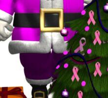 Santa Claus Dressed In Pink Sticker