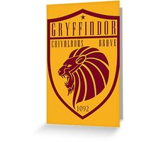 Gryffindor Crest Greeting Card