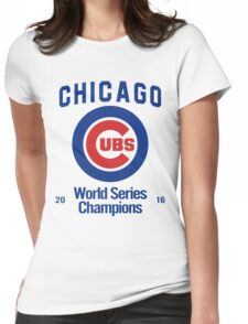 Chicago Cubs (World Series Edition) Womens Fitted T-Shirt