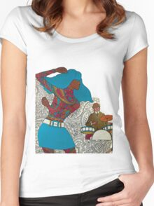 Psychedelic Paisley Rock n roll Women's Fitted Scoop T-Shirt