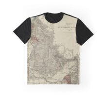 Map of Idaho 1888 Graphic T-Shirt