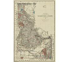 Map of Idaho 1888 Photographic Print