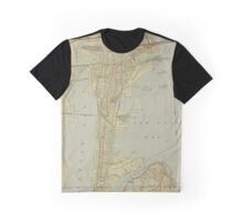 Map of Hoboken 1912 Graphic T-Shirt