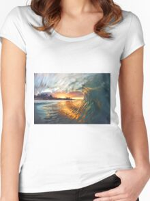 Byron Bay Women's Fitted Scoop T-Shirt