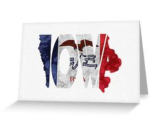 Iowa Typographic Map Flag Greeting Card
