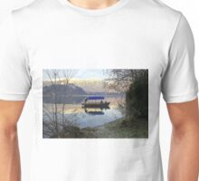 A Pletna wooden rowing boat on Lake Bled Slovenia Unisex T-Shirt