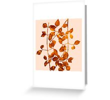 fall golden leaves Greeting Card