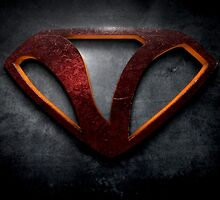 "The Letter V in the Style of ""Man of Steel"" by BigRockDJ"