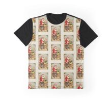 Santa Painting in His Toy Shop Graphic T-Shirt