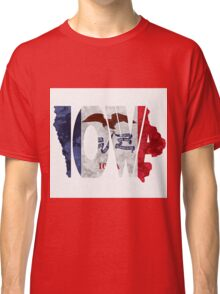 Iowa Typographic Map Flag Classic T-Shirt