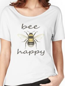 Bee Happy Women's Relaxed Fit T-Shirt