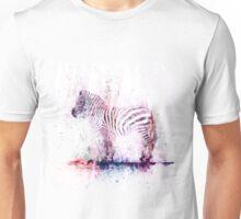 Watercolor Wash Zebra Unisex T-Shirt