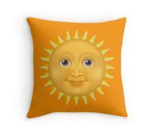 Sun emoji  Throw Pillow