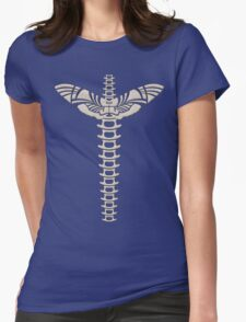 Winged spine Womens Fitted T-Shirt