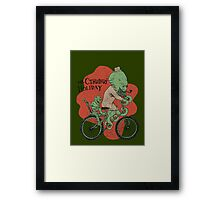 Mr. Cthulhu's Holiday Framed Print